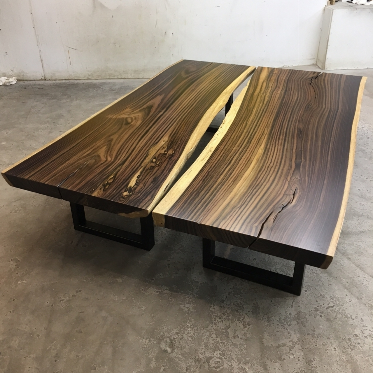 Pair of Indonesian rosewood coffee tables