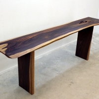 Tall rosewood console table