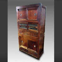 Antique Japanese Edo period kitchen Tansu