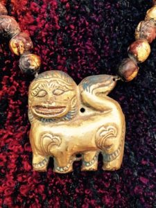 Magnificent Snow Lion Pendants from Tibet