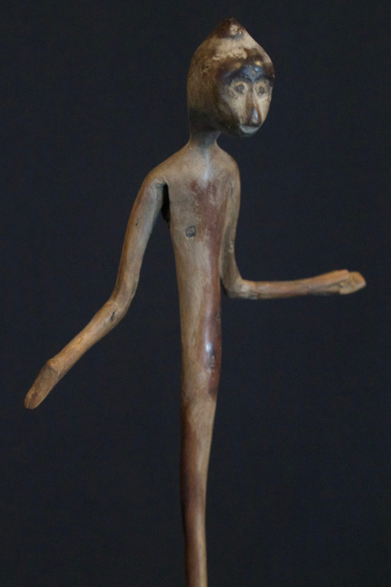 Magic Amulet/Talisman Figure, West Sumba Island, Lesser Sunda Islands, Indonesia, Anakalang village Mid 20th c, Wood Magic amulet used for healing rituals. Sold