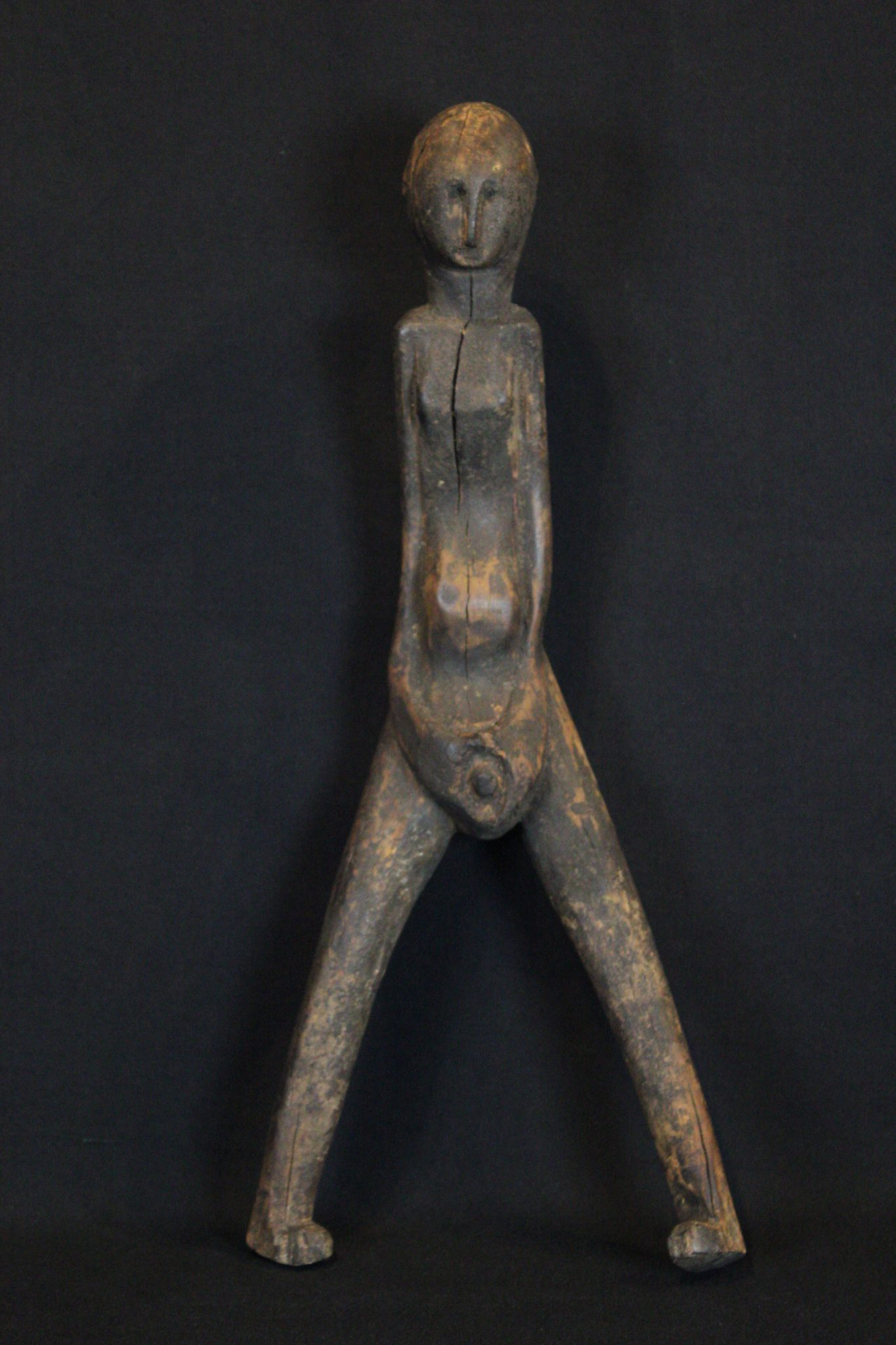 "Magic Talisman Figure, Flores Island, Lesser Sunda Islands, Indonesia, Bajawa village, Mid 20th c, Wood Used for healing rituals. 15 ½"" x 6 ½"" x 4"", $320."