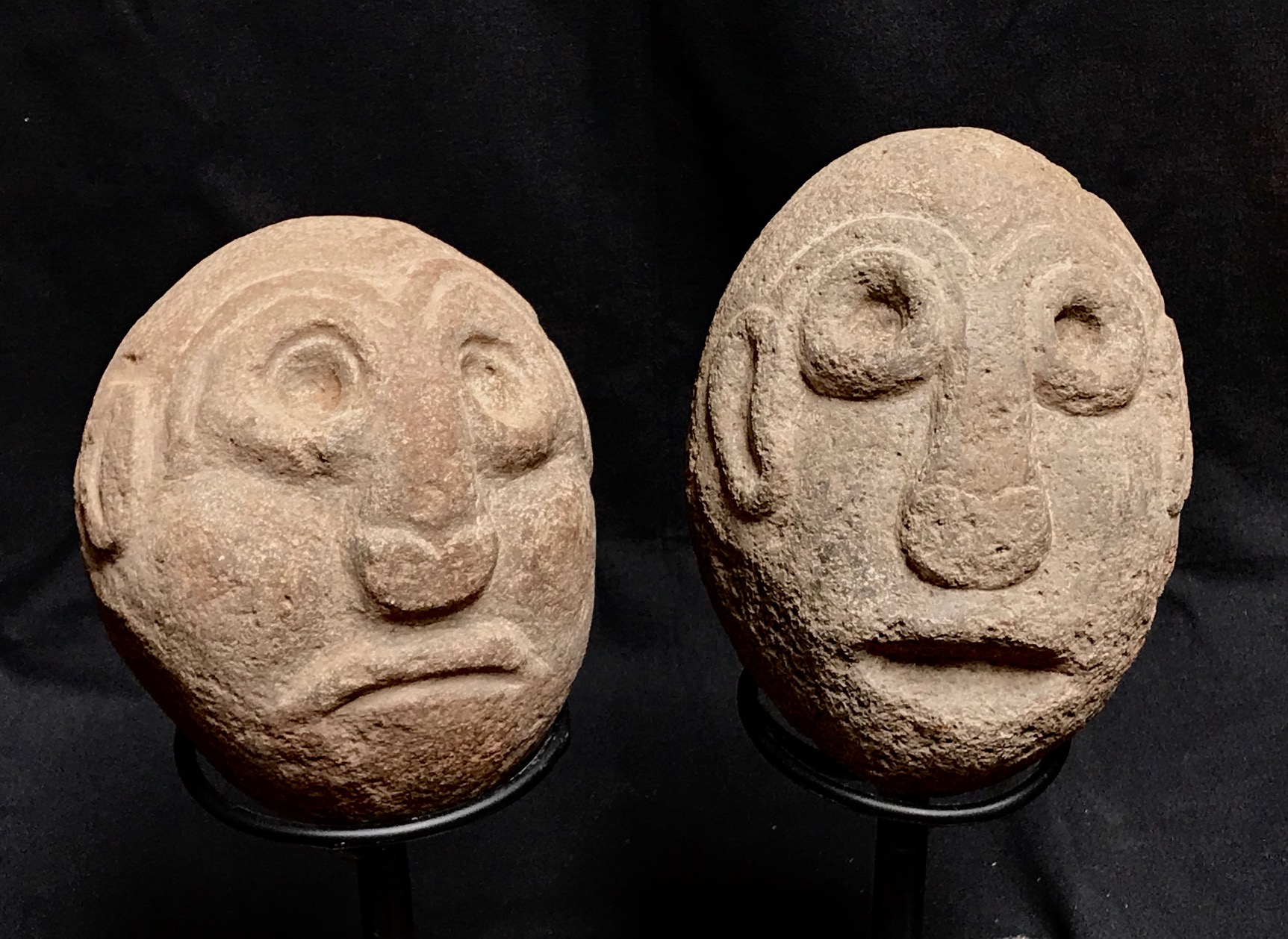 "Shaman figures used in rituals to make rain, Indonesia, Timor Island, early to mid 20th c., stone, ~ 7"" x 5"""