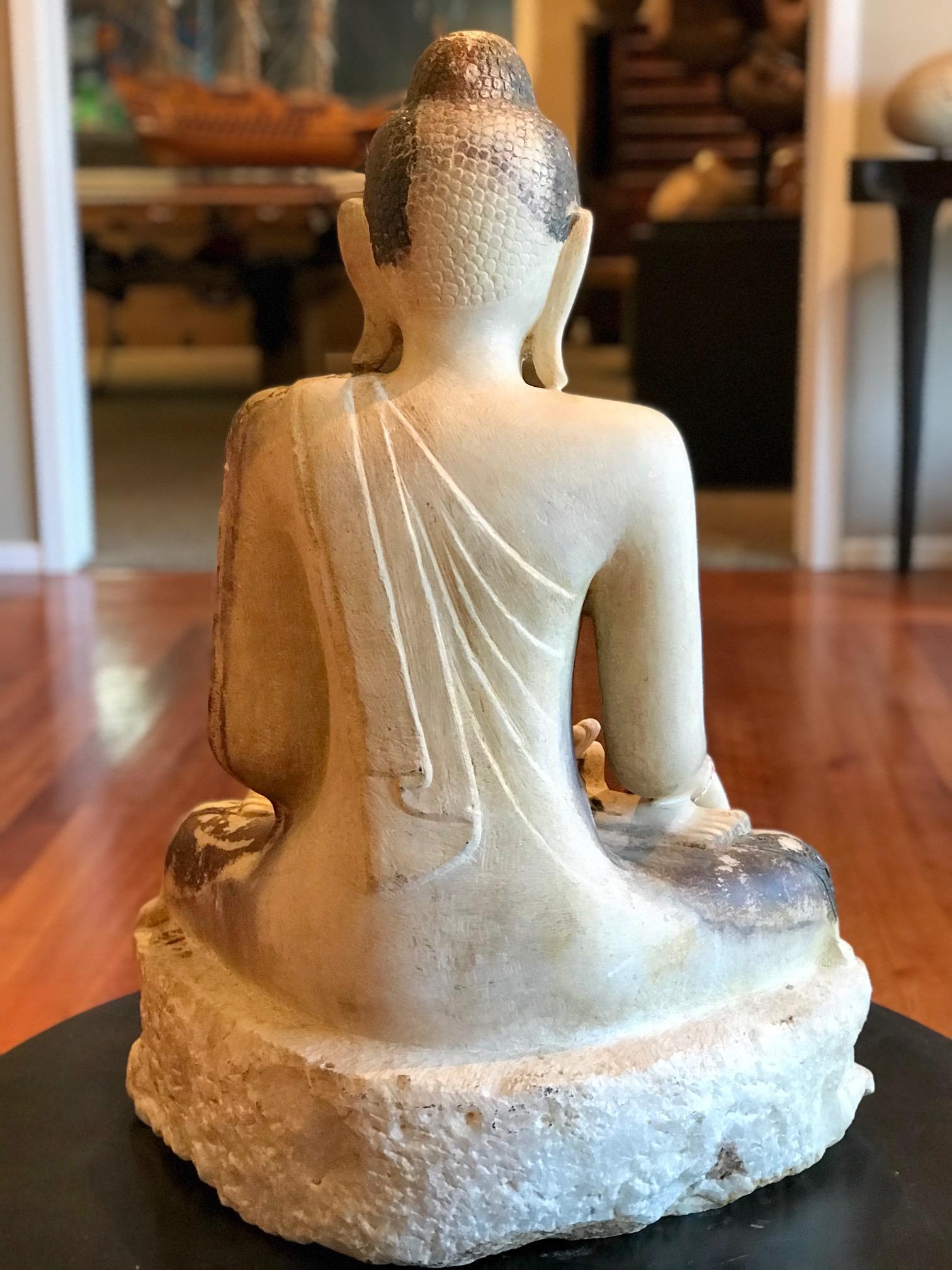 White Marble Stone Shan Buddhaburma Myanmar18th Century