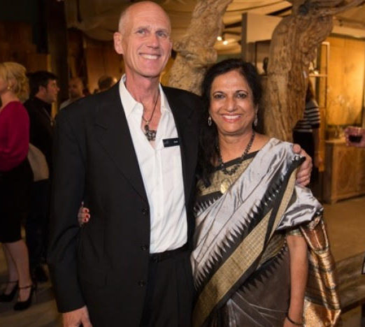 David and Amita Bardwick at the jewelry launch at their David Alan Collection store