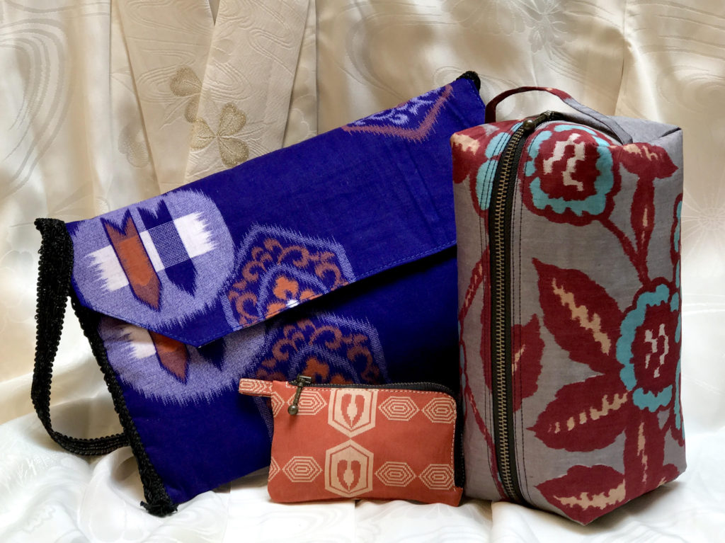 Japanese Kimono Fabric Accessories. From Vintage to Modern – Introducing Our New Line of  Custom Designs Bags.